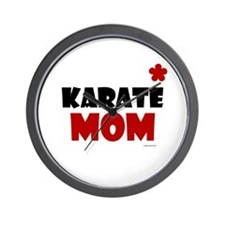 Karate Mom 1 (Cinnamon) Wall Clock