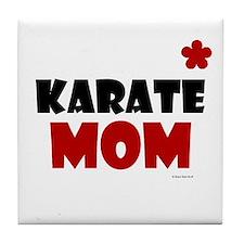 Karate Mom 1 (Cinnamon) Tile Coaster