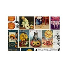 Halloween Vintage Greeting Card C Rectangle Magnet