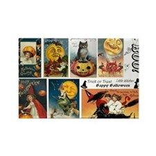 Halloween Vintage Greeting Card C Rectangle Magnet