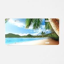 Beautiful Beach Aluminum License Plate