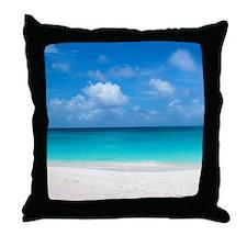 Tropical Beach View Cap Juluca Anguil Throw Pillow