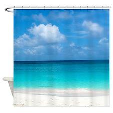 Tropical Beach View Cap Juluca Angu Shower Curtain