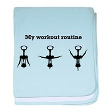 My workout routine baby blanket