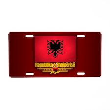 Republic of Albania Aluminum License Plate