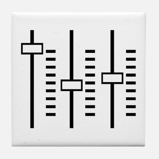 Audio Balance Control Tile Coaster