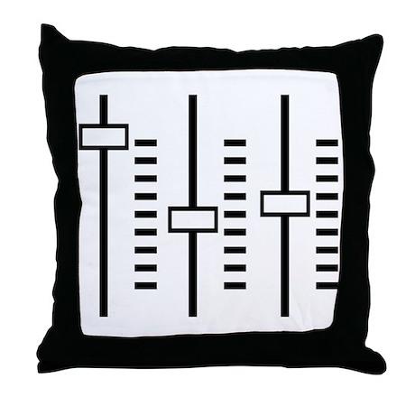 Audio Balance Control Throw Pillow