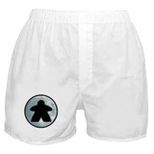 Halloween Meeple on Moon Boxer Shorts
