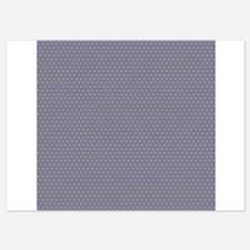 Tiny Blue Tan Geometrical Triangle Pattern Invitations