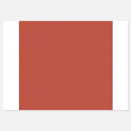 Red Green Tiny Quatre Foil Pattern 5x7 Flat Cards