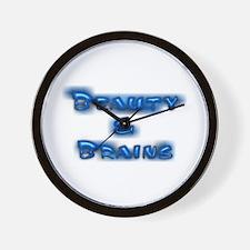 Beauty & Brains Wall Clock