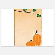 Two Rustic Pumpkins Invitations