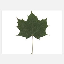 Green Autumn Fall Seasonal Leaf Invitations