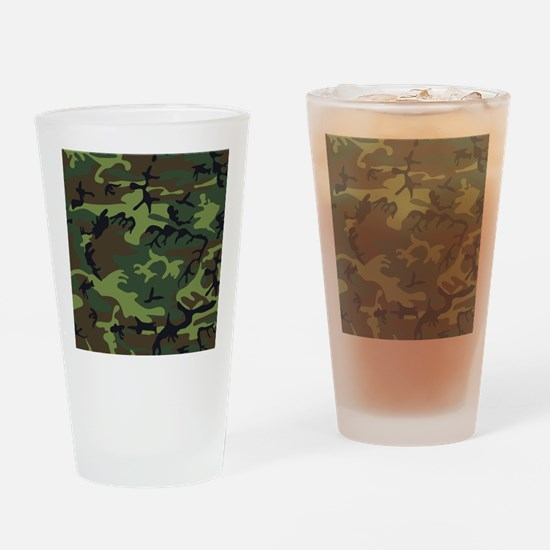 Combat Army Camouflage Drinking Glass