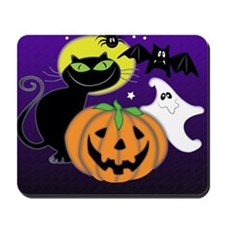 Cute Halloween Scene Mousepad