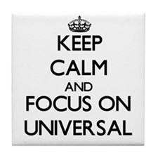 Keep Calm by focusing on Universal Tile Coaster