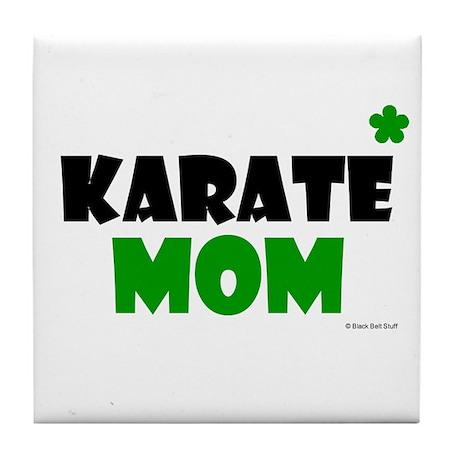 Karate Mom 1 (Grass) Tile Coaster