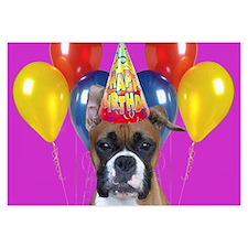 Birthday Boxer puppy Invitations