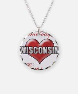 Somebody In Wisconsin Loves Necklace