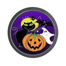 Cute Halloween Scene Wall Clock