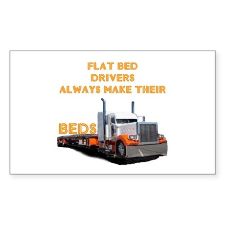 Flat Bed Drivers Rectangle Sticker