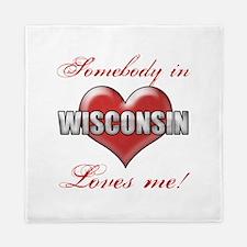 Somebody In Wisconsin Loves Me Queen Duvet