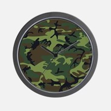 Combat Army Camouflage Wall Clock
