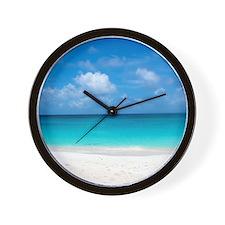 Tropical Beach View Cap Juluca Anguilla Wall Clock