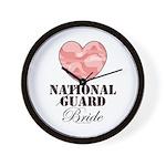 National Guard Bride Camo Heart Wall Clock