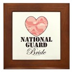 National Guard Bride Camo Heart Framed Tile