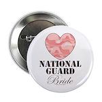 National Guard Bride Camo Heart Button