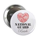 National Guard Bride Camo Heart Button 100 pk
