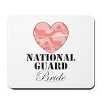 National Guard Bride Camo Heart Mousepad