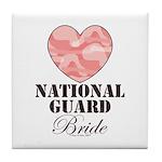 National Guard Bride Camo Heart Tile Coaster