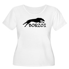 Running Borzoi w/Text T-Shirt
