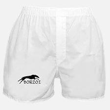 Running Borzoi w/Text Boxer Shorts