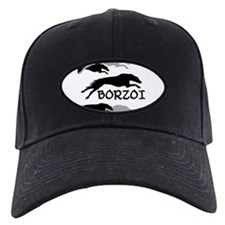 Running Borzoi w/Text Baseball Cap