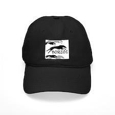 Running Borzoi w/Text Baseball Hat