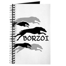 Running Borzoi w/Text Journal