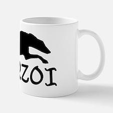 Running Borzoi w/Text Mug