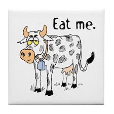 """Eat me.""<br>Ceramic Hot Pad"