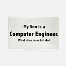 Computer Engineer Son Rectangle Magnet