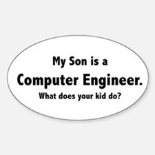 Computer Engineer Son Oval Decal
