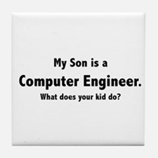 Computer Engineer Son Tile Coaster
