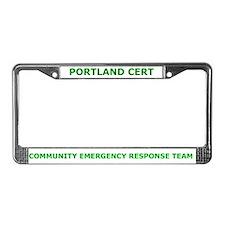 Portland Cert License Plate Frame