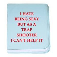 trap shooter baby blanket