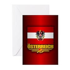 Austrian Flag & COA Greeting Cards