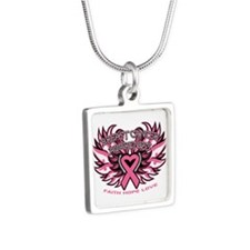 Breast Cancer Awareness Wings Necklaces