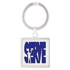 SERVE VB Square Keychain