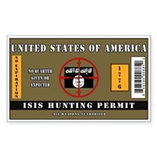 ISIS Hunting Permit Bumper Stickers